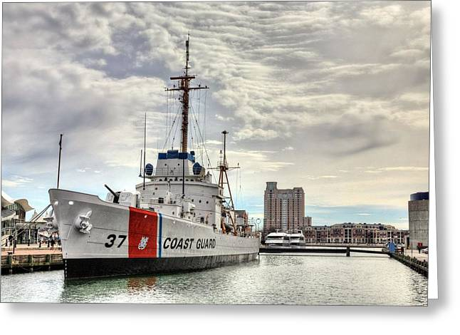 Uscg Cutter Taney Greeting Card by JC Findley