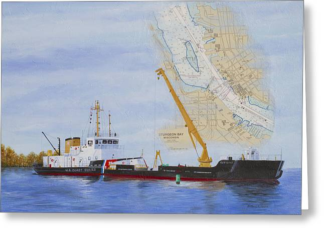Uscgc Mobile Bay  Greeting Card by Bethany Kirwen