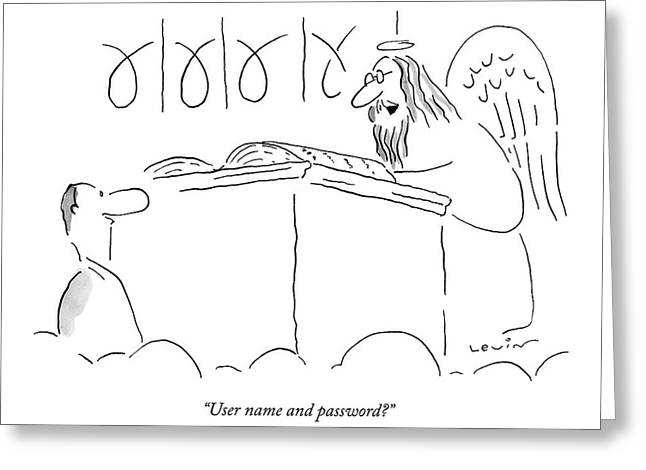User Name And Password? Greeting Card