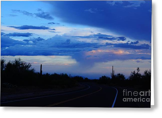 Usery Pass Thunderstorm Greeting Card by Kerri Mortenson