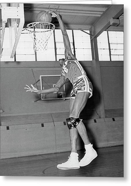 Usf Star Bill Russell Greeting Card by Underwood Archives