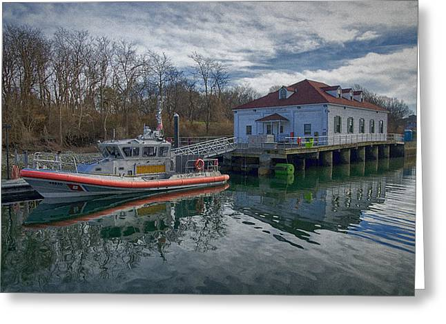 Usgs Castle Hill Station Greeting Card by Joan Carroll