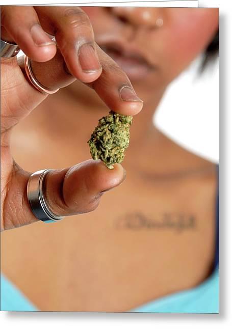 Using Cannabis Greeting Card by Aj Photo