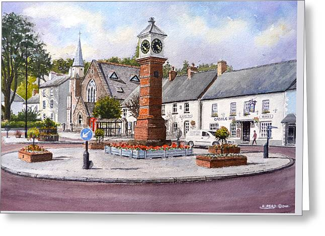 Usk In Bloom Greeting Card by Andrew Read