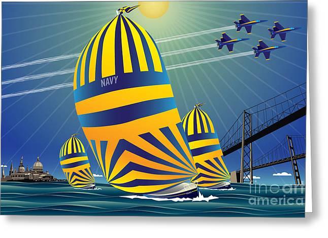 Usna High Noon Sail Greeting Card