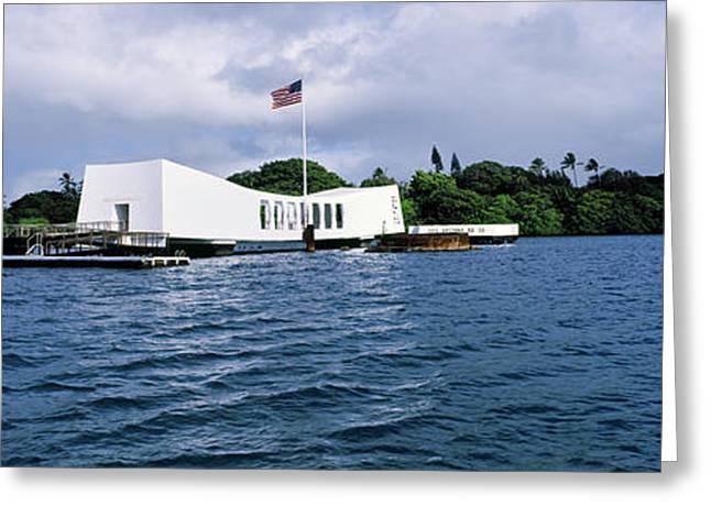 Uss Arizona Memorial, Pearl Harbor Greeting Card by Panoramic Images