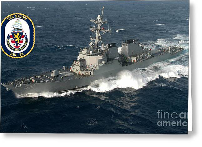 Uss Barry Greeting Card by Baltzgar