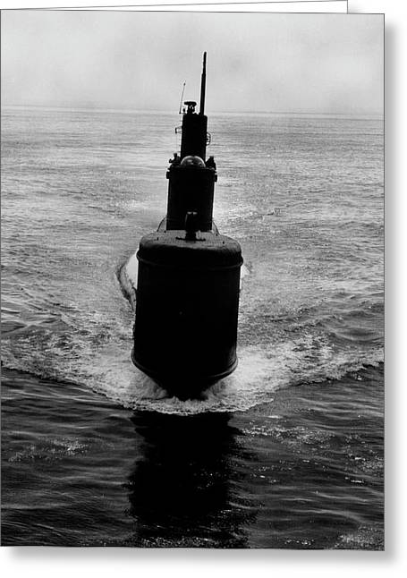 Uss Bass Ssk-2 Off Point Loma, San Greeting Card by Stocktrek Images