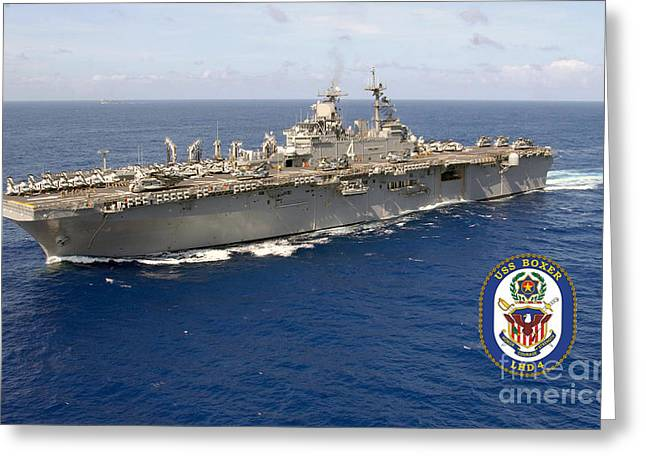 Uss Boxer Greeting Card