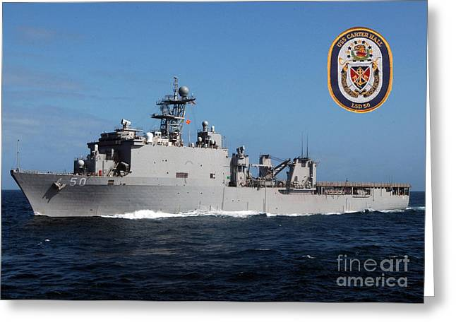 Uss Carter Hall Greeting Card by Baltzgar
