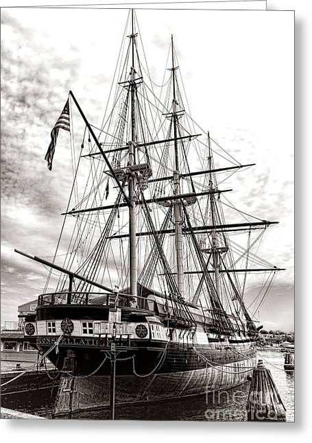 Uss Constellation Greeting Card by Olivier Le Queinec
