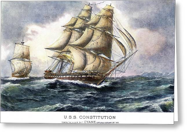 Uss Constitution, 1815 Greeting Card by Granger
