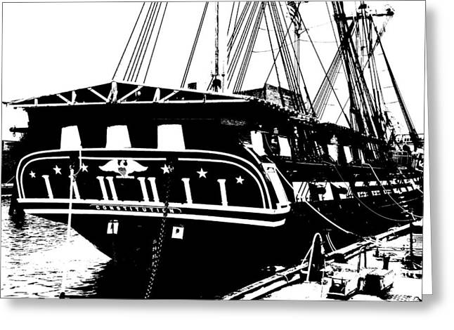 Uss Constitution Greeting Card by Charlie and Norma Brock