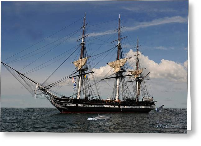 Uss Constitution - Featured In Comfortable Art Group Greeting Card