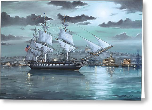 Uss Constitution In Boston Harbor 1812 Greeting Card