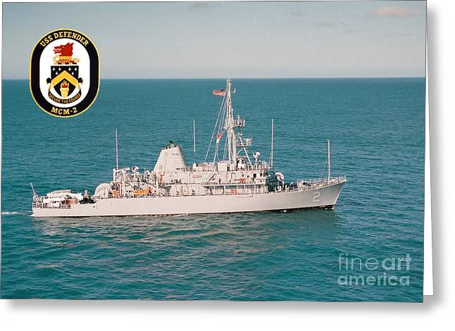 Uss Defender Greeting Card by Baltzgar