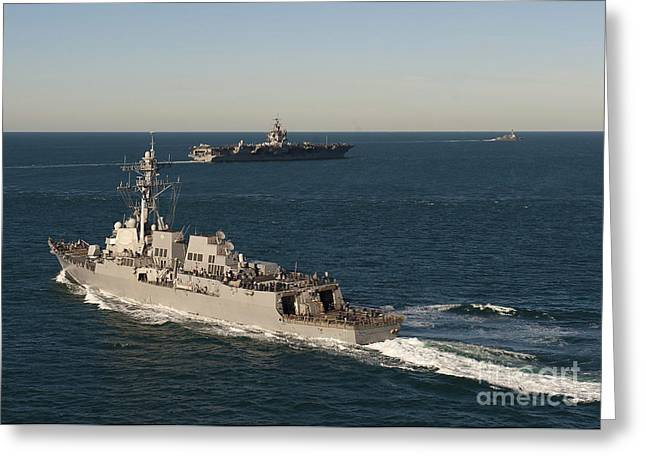 Uss James E. Williams Is Underway Greeting Card by Stocktrek Images