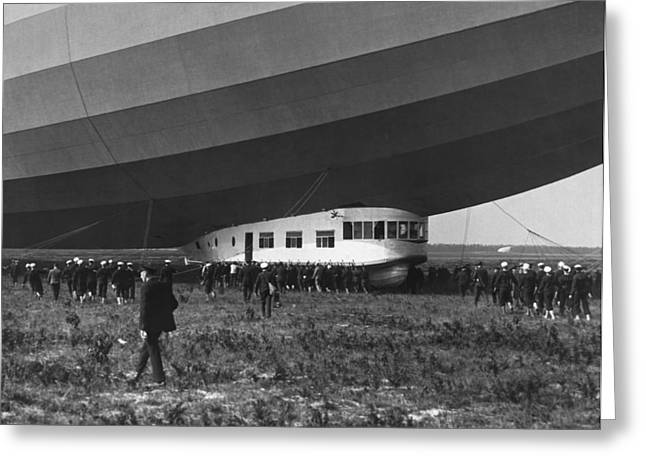 Uss Los Angeles Airship Greeting Card by Underwood Archives