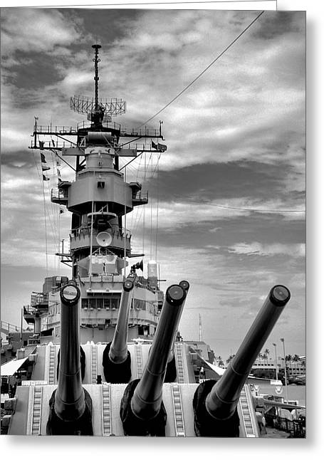 Uss Missouri Guns  Greeting Card