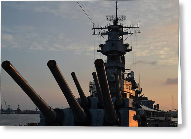 Uss Missouri Pearl Harbor Hi Greeting Card