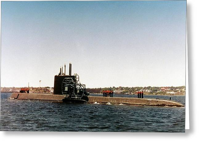 Uss Nautilus Submarine Greeting Card