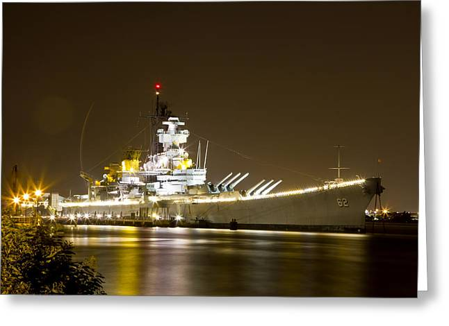 Uss New Jersey Greeting Card