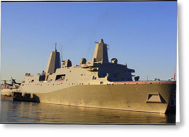Uss New York - Lpd21 Greeting Card