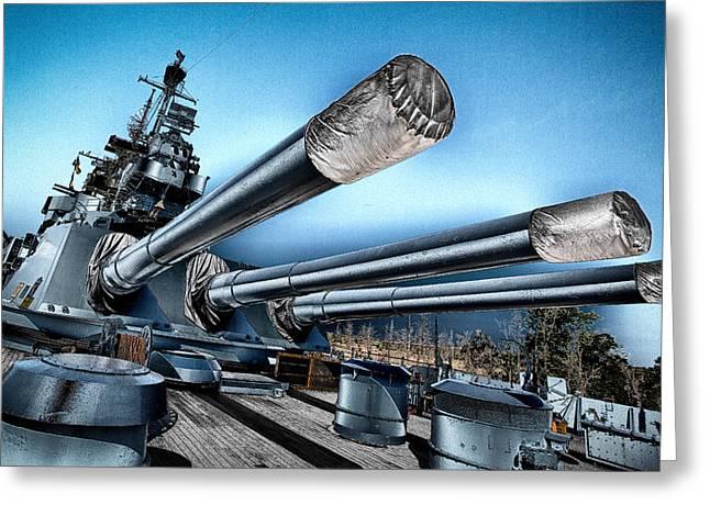 Uss North Carolina Battleship Greeting Card