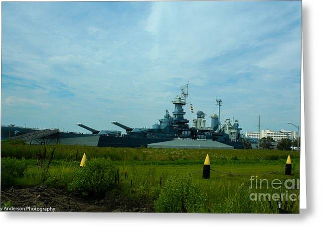 Uss North Carolina Bb-55 Greeting Card by Tommy Anderson