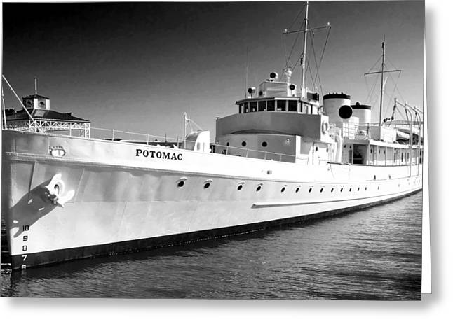 Uss Potomac Greeting Card by Anne Mott