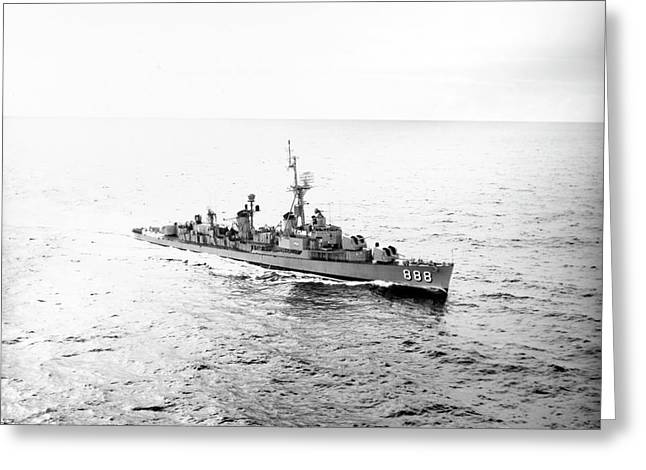 Uss Stickell Underway During Operations Greeting Card by Stocktrek Images
