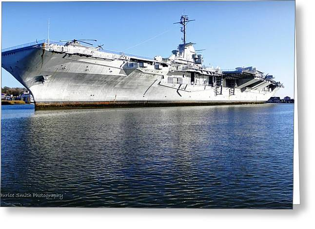 Uss Yorktown Aircraft Carrier Greeting Card by Maurice Smith