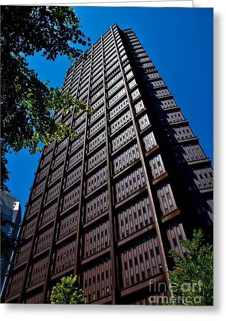 Usx Tower Greeting Card by Amy Cicconi