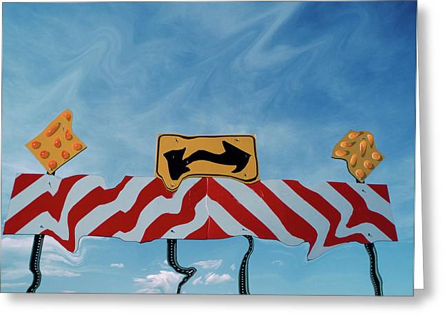 Utah, Digital Distortion Road Sign Greeting Card by Jaynes Gallery