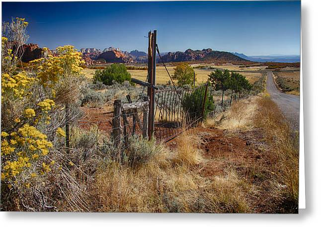Utah Landscape Greeting Card by Sharon Beth