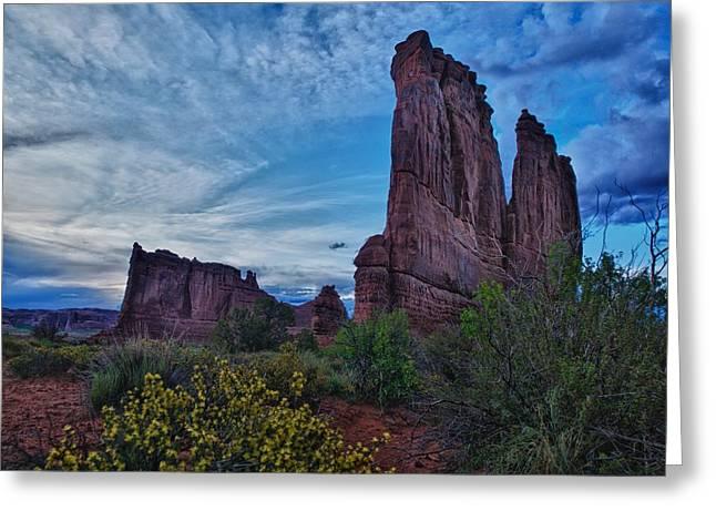 Utah Obelisk Greeting Card by Rob Wilson