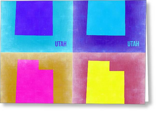 Utah Pop Art Map 2 Greeting Card by Naxart Studio