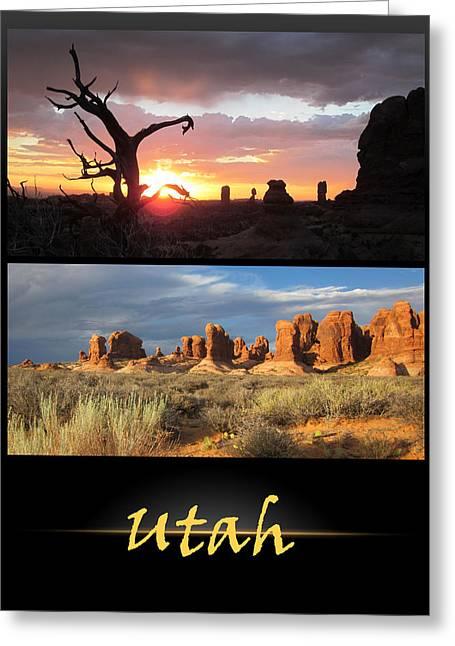 Utah Poster Greeting Card