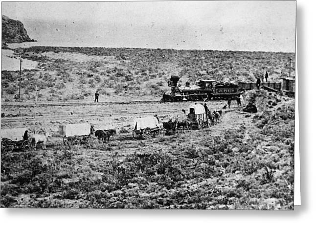Utah Railroad, 1869 Greeting Card by Granger