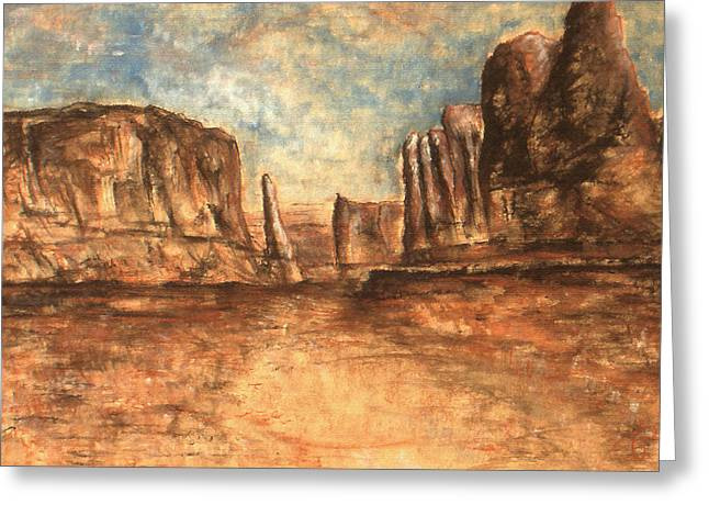 Utah Red Rocks - Landscape Art Greeting Card by Art America Gallery Peter Potter