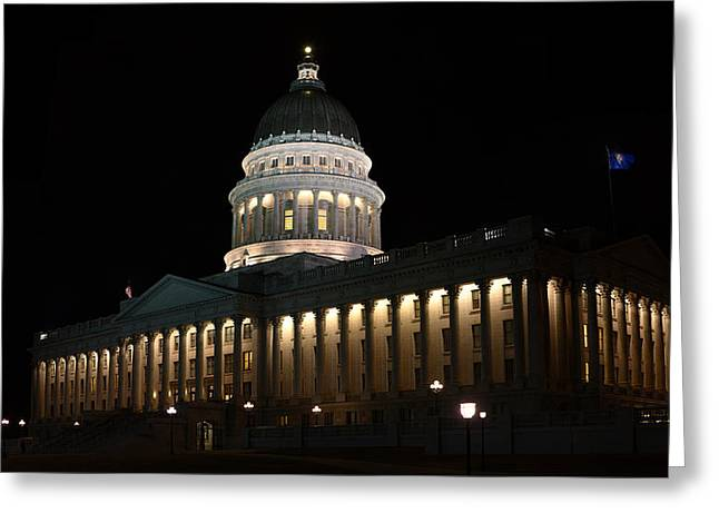 Greeting Card featuring the photograph Utah State Capitol East by David Andersen