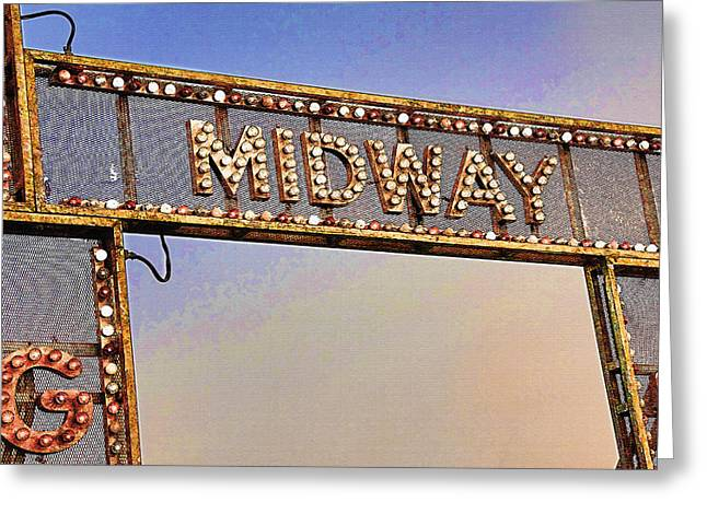 Utah State Fairgrounds 3 - Midway Entrance Greeting Card
