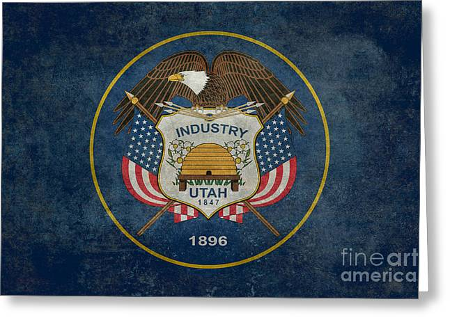 Utah State Flag Vintage Version Greeting Card