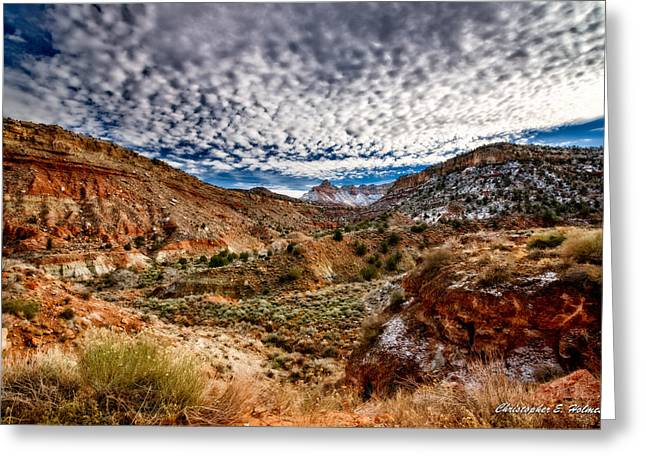 Utah Winter Scenic Greeting Card by Christopher Holmes