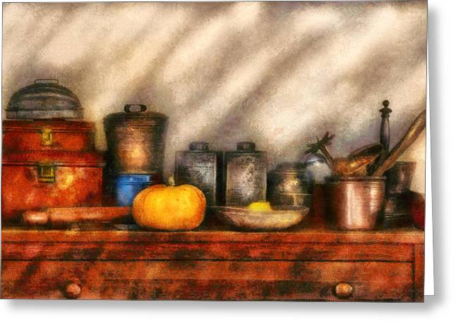 Utensils - Kitchen Still Life Greeting Card by Mike Savad
