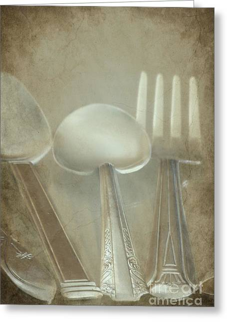 Utensils Greeting Card by Sophie Vigneault