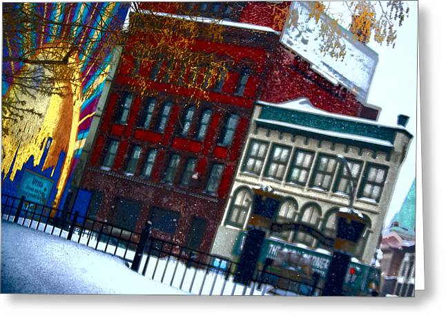 Utica In The Winter Greeting Card by Stephanie Grooms