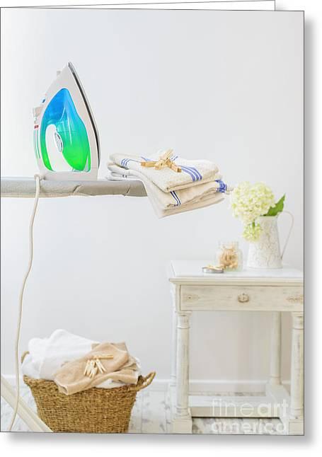 Utility Room Greeting Card by Amanda Elwell