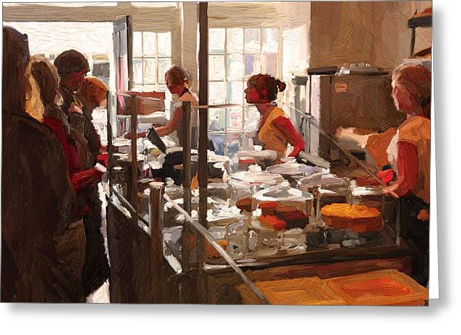 Greeting Card featuring the painting Utrecht. Sector 3 Horeca Shop by Nop Briex