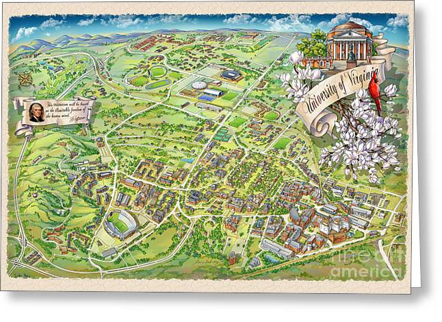 Uva Grounds Illustration 2014 Greeting Card by Maria Rabinky